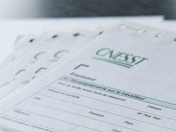 Formulaire de réclamation CNESST
